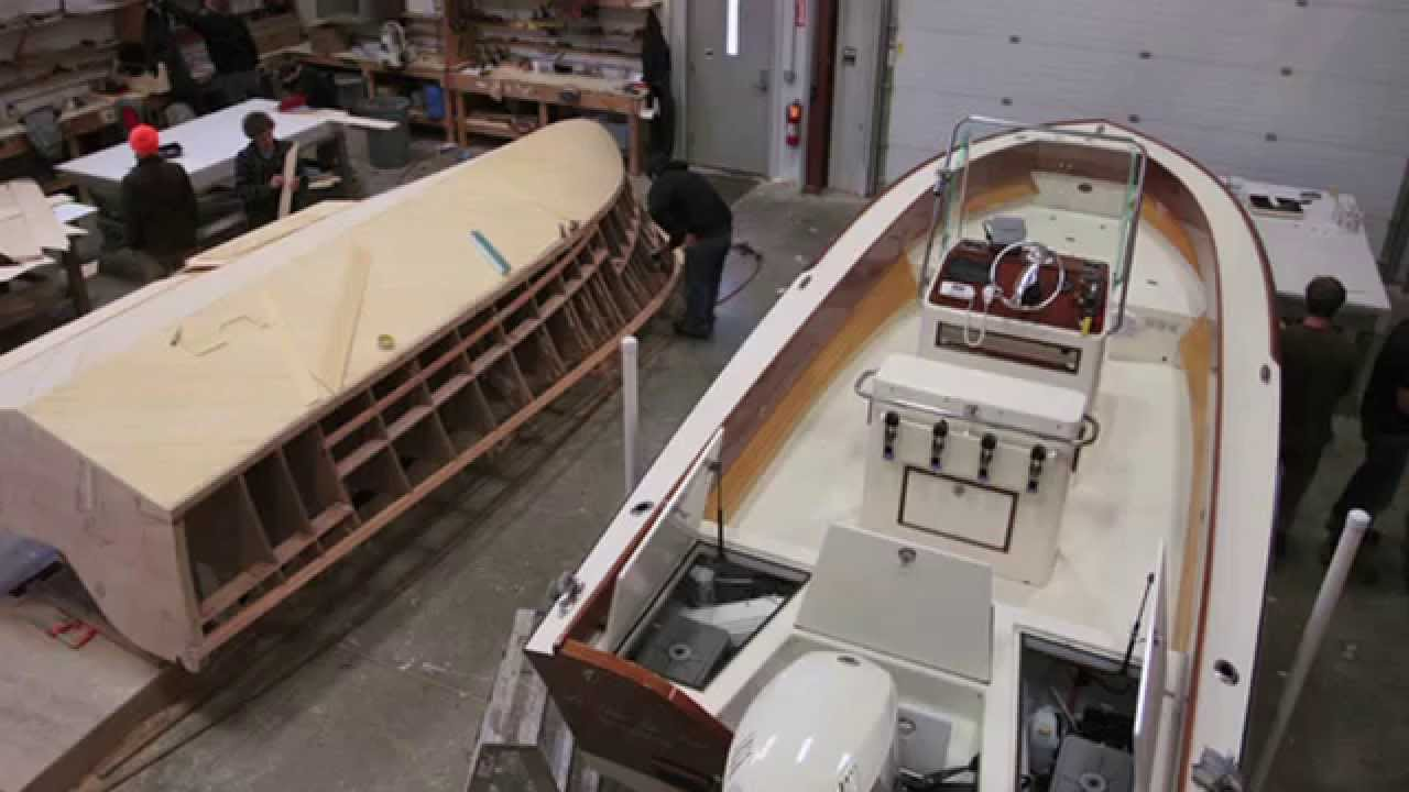 The Landing School Wooden Boat Building Program - YouTube