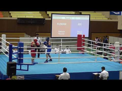 6日 ボクシング あいづ総合体育館 Bリング 中田流星vs大辻竜輝 ライト級 2回戦