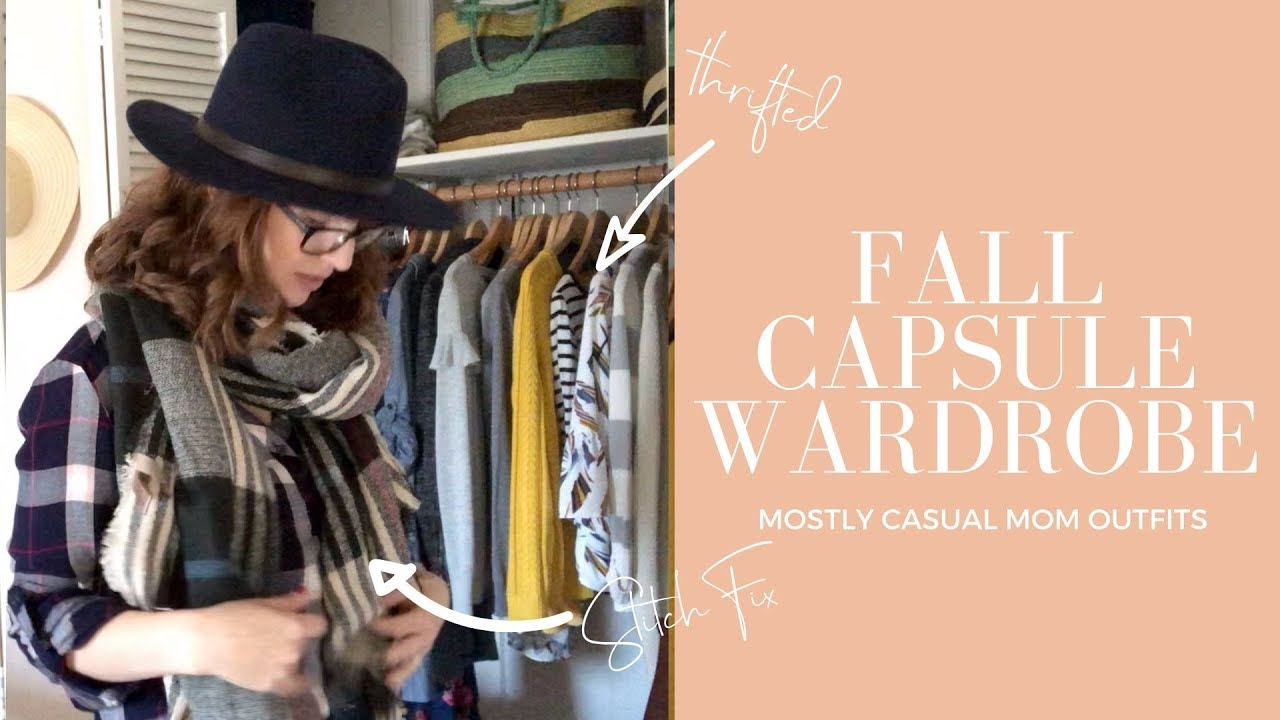 [VIDEO] - FALL CAPSULE WARDROBE | Thrifted Stay At Home Mom Outfits for Autumn | 8