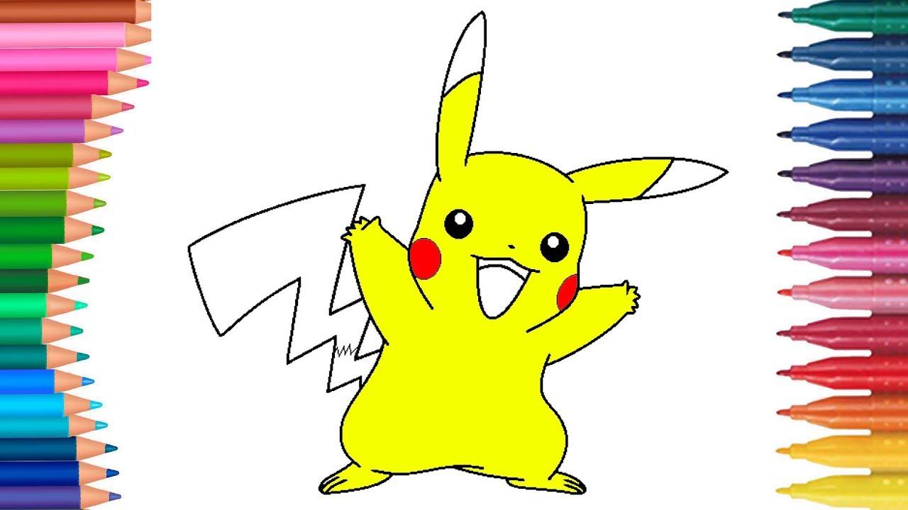 Pikaçu Pokemon çizgi Film Karakteri Boyama Sayfası Minik Eller