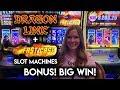 BIG WIN on Dragon Link! + Max Bet Fast Cash Timberwolf Slot Machine!