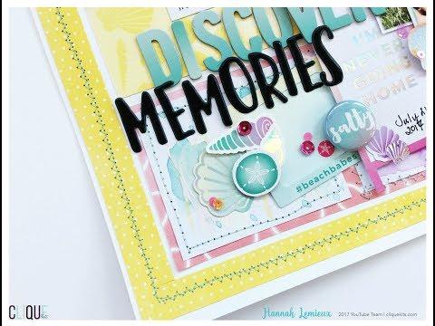 Clique Kits August Challenge Layout: Hunting Seashells (Hannah)