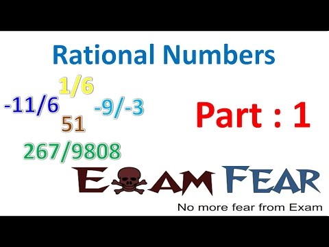 Maths Rational Numbers part 1 (Introduction) CBSE Class 7  Mathematics VII
