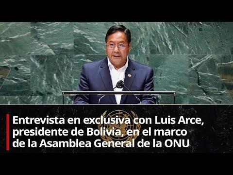 Entrevista en exclusiva con Luis Arce, presidente de Bolivia