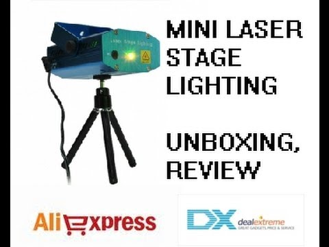 MINI LASER STAGE LIGHTING Laser holográfico discoteca Review (By Tecnocrysis)