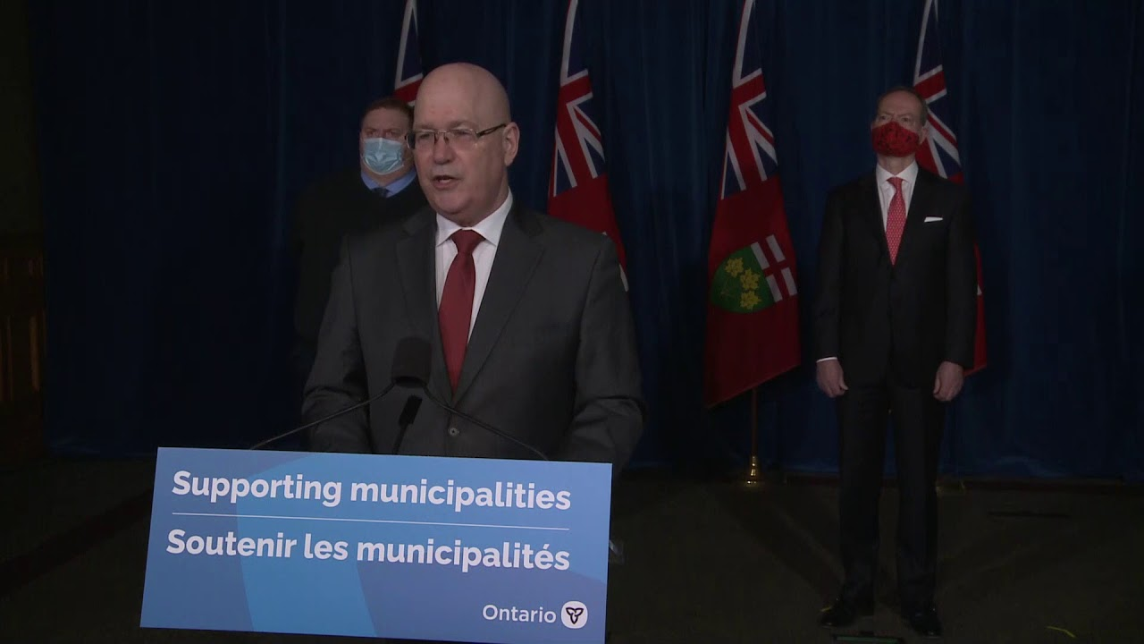 Minister Clark makes an announcement at Queen's Park | March 4