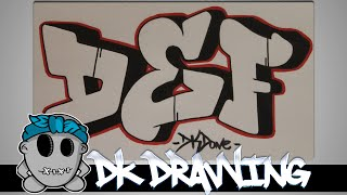How to draw graffiti  - Graffiti Letters DEF step by step