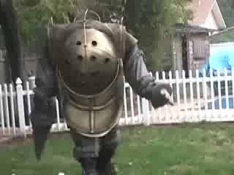 & Homemade Bioshock Big Daddy Halloween Costume - YouTube