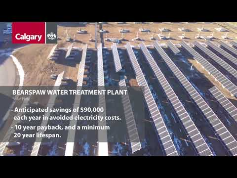 Producing Safe and Clean Drinking Water with Solar Power at Bearspaw Water Treatment Plant