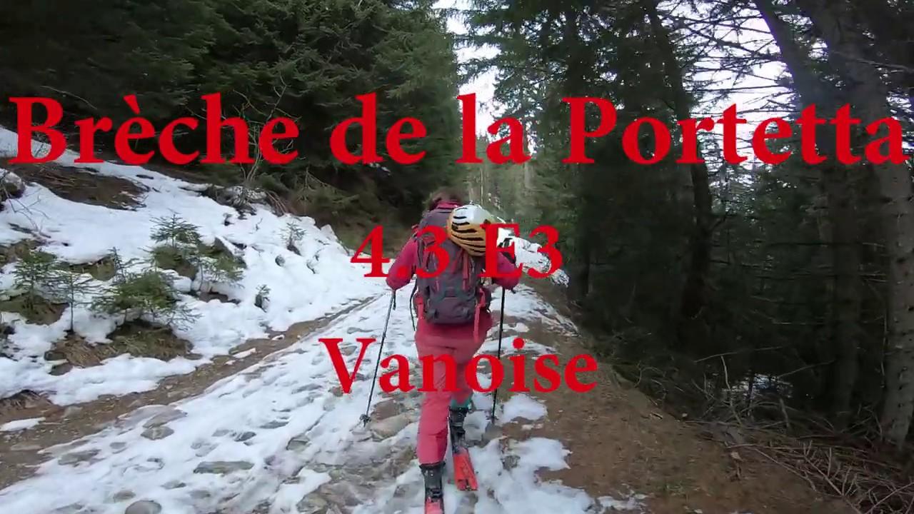 Breche de la Portetta (boucle) - 4.3 (E3) - Vanoise - Decembre 2019