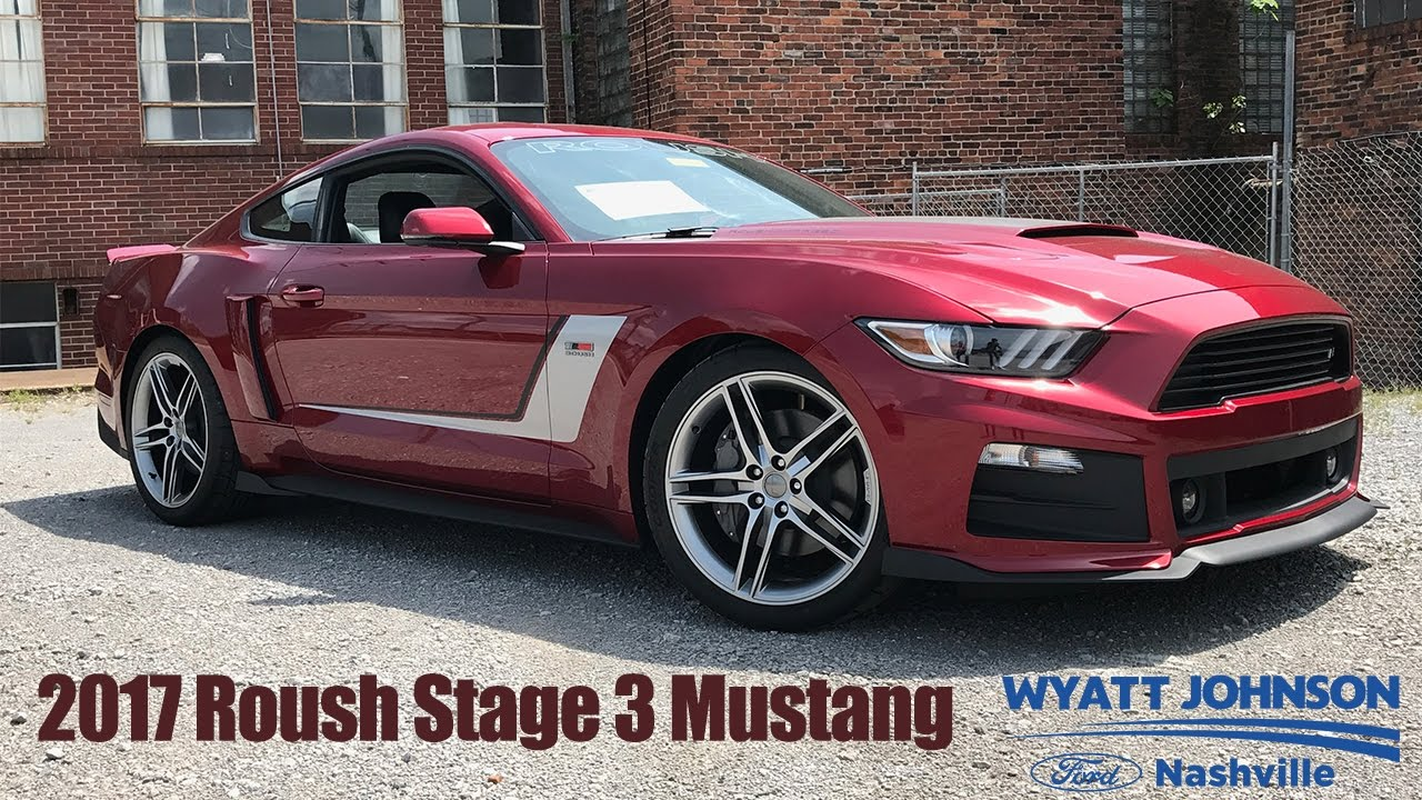 2017 roush mustang stage 3 670hp ruby red wyatt johnson ford youtube. Black Bedroom Furniture Sets. Home Design Ideas