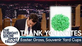 Thank You Notes: Easter Grass, Souvenir Yard Cups