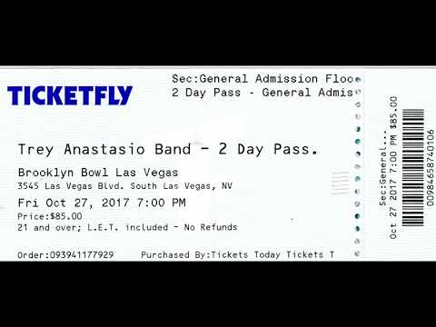 Trey Anastasio Band: 2017-10-28 ~ Brooklyn Bowl, Las Vegas, NV