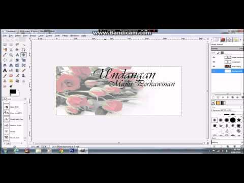 Cara Buat Kad Kahwin Guna Software GIMP - VIDEO