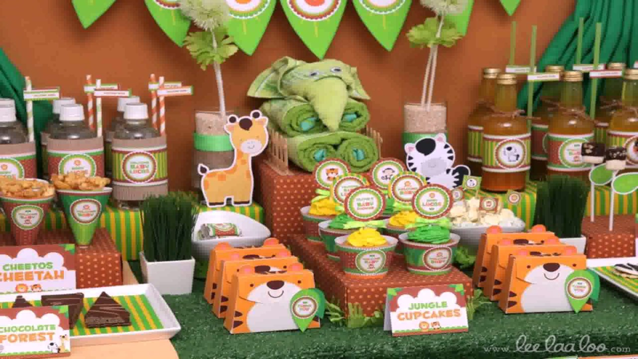 Diy Jungle Baby Shower Decorations Youtube
