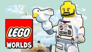 LEGO WORLDS ПРОХОЖДЕНИЕ - БЕСКОНЕЧНЫЙ ПОДЪЕМ В НЕБО ПО ЛЕСТНИЦЕ! ЛЕГО МИР НАЧАЛО!