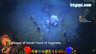 Diablo3-Witch Doctor-skill-plague of toads+toad of hugeness