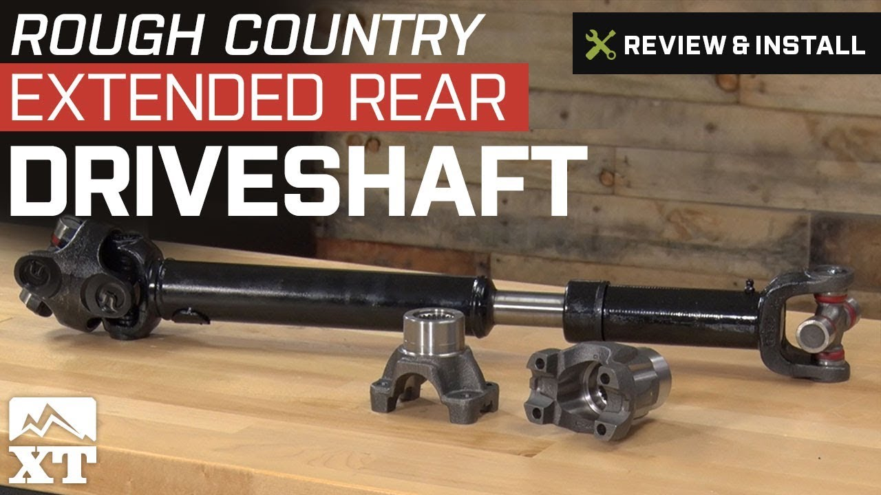 Jeep Wrangler Rough Country Extended Rear Driveshaft (2007-2011 JK) Review & Install