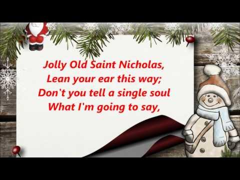 JOLLY OLD SAINT ST. NICHOLAS  NICKOLAS WORDS lyrics CHRISTMAS best trending sing along songs