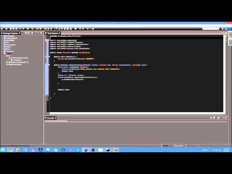 Bukkit Coding Tutorial Episode 1: Sending a player a message