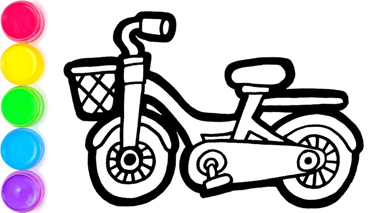 Pelajari Menggambar Dan Mewarnai Sepeda Pelangi Untuk Anak Anak