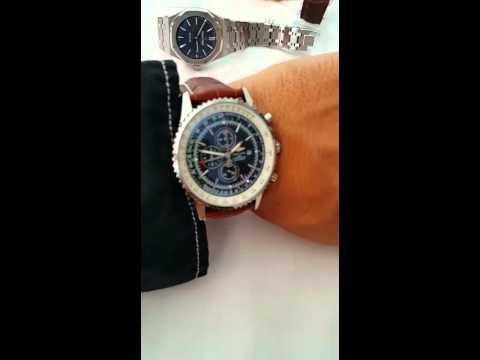 b41cb896a4b Relogio Breitling pulseira de couro 1.1 primeira - YouTube