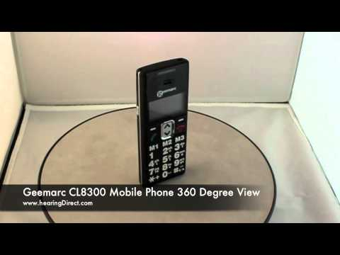 Geemarc CL8300 Mobile Phone 360 Degree View