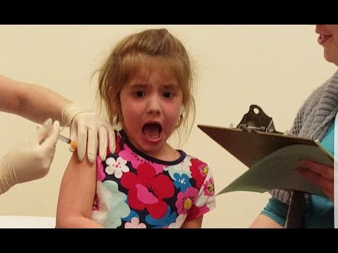 Little Girl Screams During Her Flu Shot.