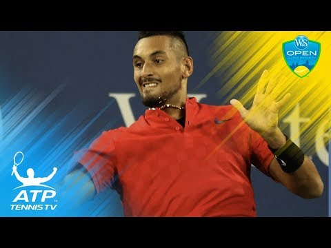 Nick Kyrgios brilliant shots in Rafa Nadal win | Cincinnati 2017 Quarter-Final