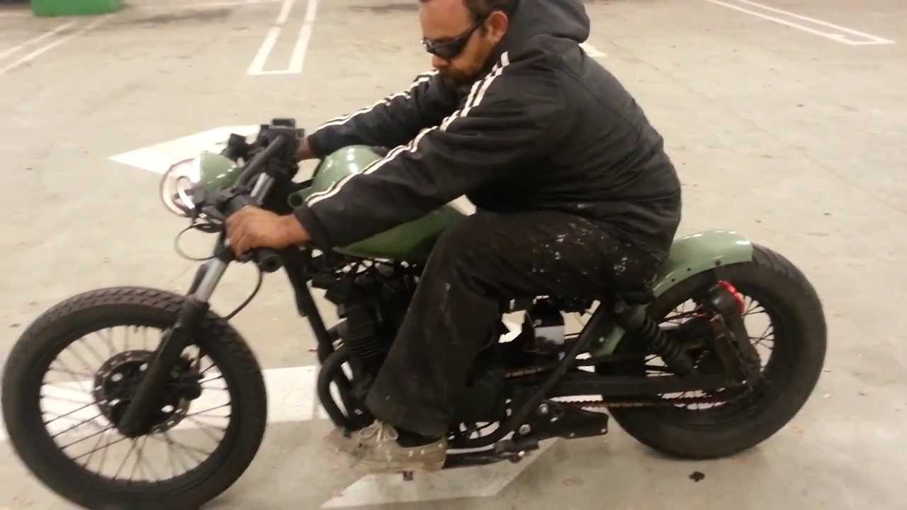 Green Bobber 250 Rebel Youtube