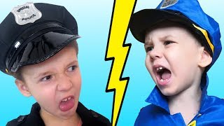 Police kid VS Police kid Funny story and pretend play for kids