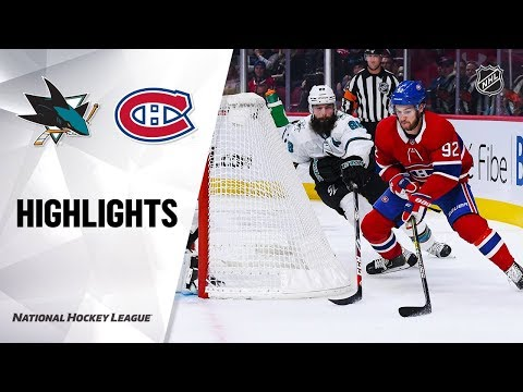 NHL Highlights | Sharks @ Canadiens 10/24/19