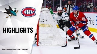 NHL Highlights | Sharks @ Canadiens 10/24/19