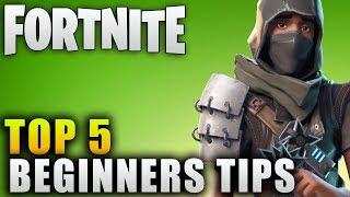 "Fortnite Guide ""Top 5 Beginners Tips"" Fortnite Beginners Guide"