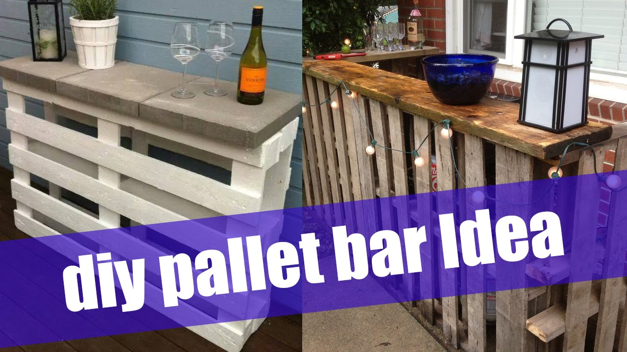 Diy pallet bar youtube for How to build a wine bar