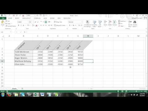Excel For Noobs Part 45: How to Display Text at an Angle Text Orientation Format Excel 2016 2013
