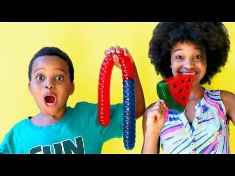 SQUISHIES VS REAL FOOD CHALLENGE!  Shiloh and Shasha  yx Kids