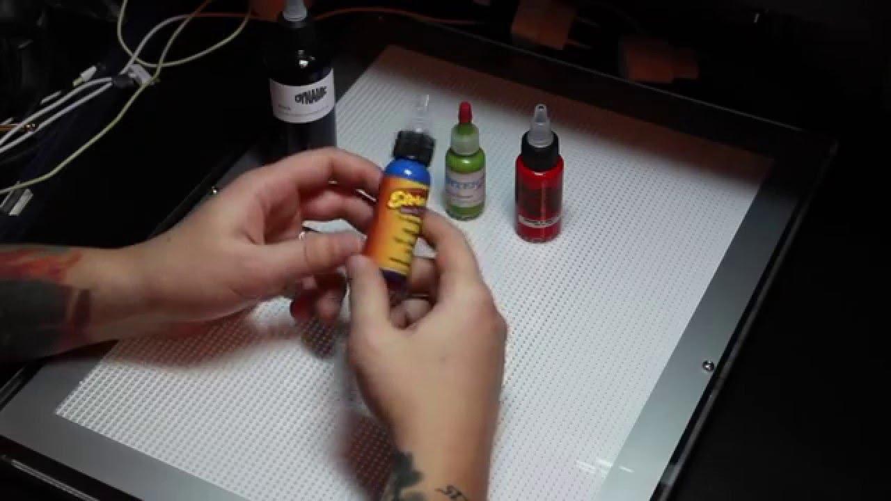 Краска для татуировок своими руками