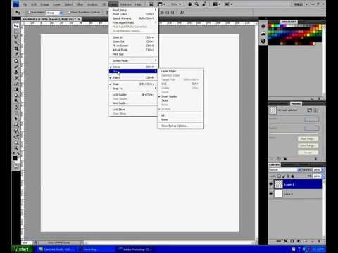 PHOTOSHOP GRID LINE TUTORIAL AND SNAP TO