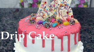 Como Fazer um Drip Cake ou Bolo gotejante lindíssimo.