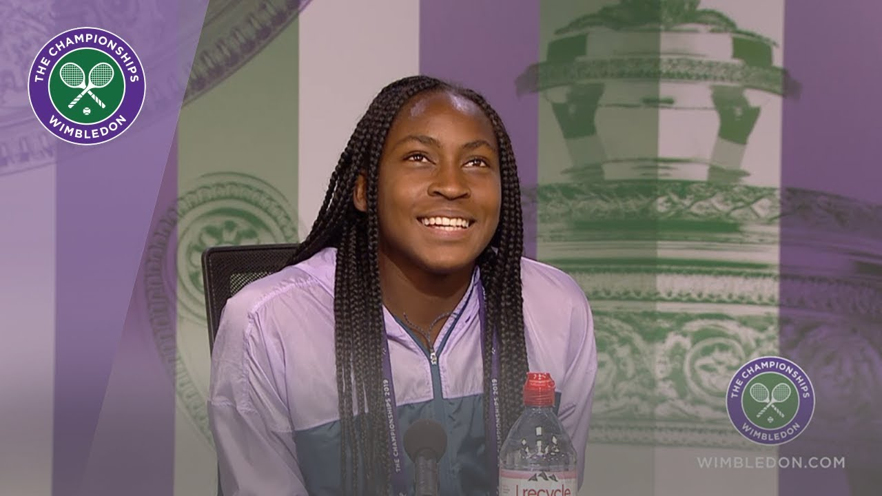 Coco Gauff Wimbledon 2019 Third Round Press Conference