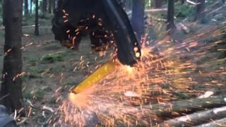 Video Ponsse Ergo Harvester on Fire download MP3, 3GP, MP4, WEBM, AVI, FLV November 2017