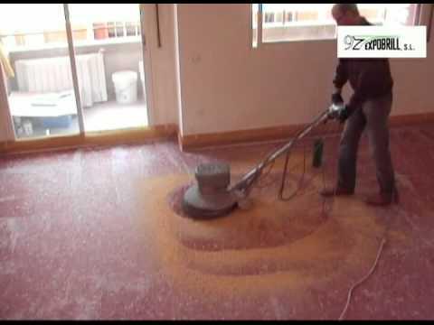 Pulir y abrillantar un suelo de terrazo  pulir terrazo