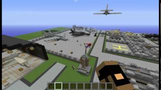 Minecraft mod showcase 1.6.2/1.6.4: toolbelt and MCheli (helicopter)
