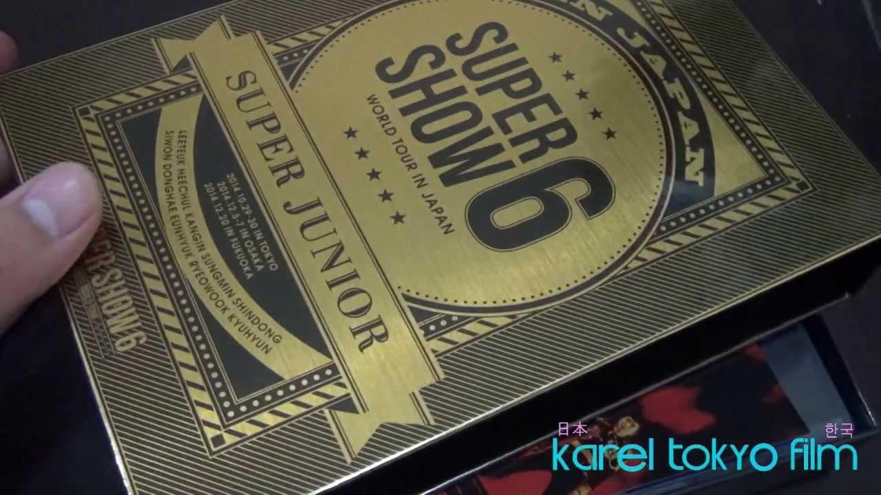 SUPER JUNIOR WORLD TOUR SUPER SHOW6 in JAPAN BOX SET+3DVD+PHOTOBOOK UNBOXING