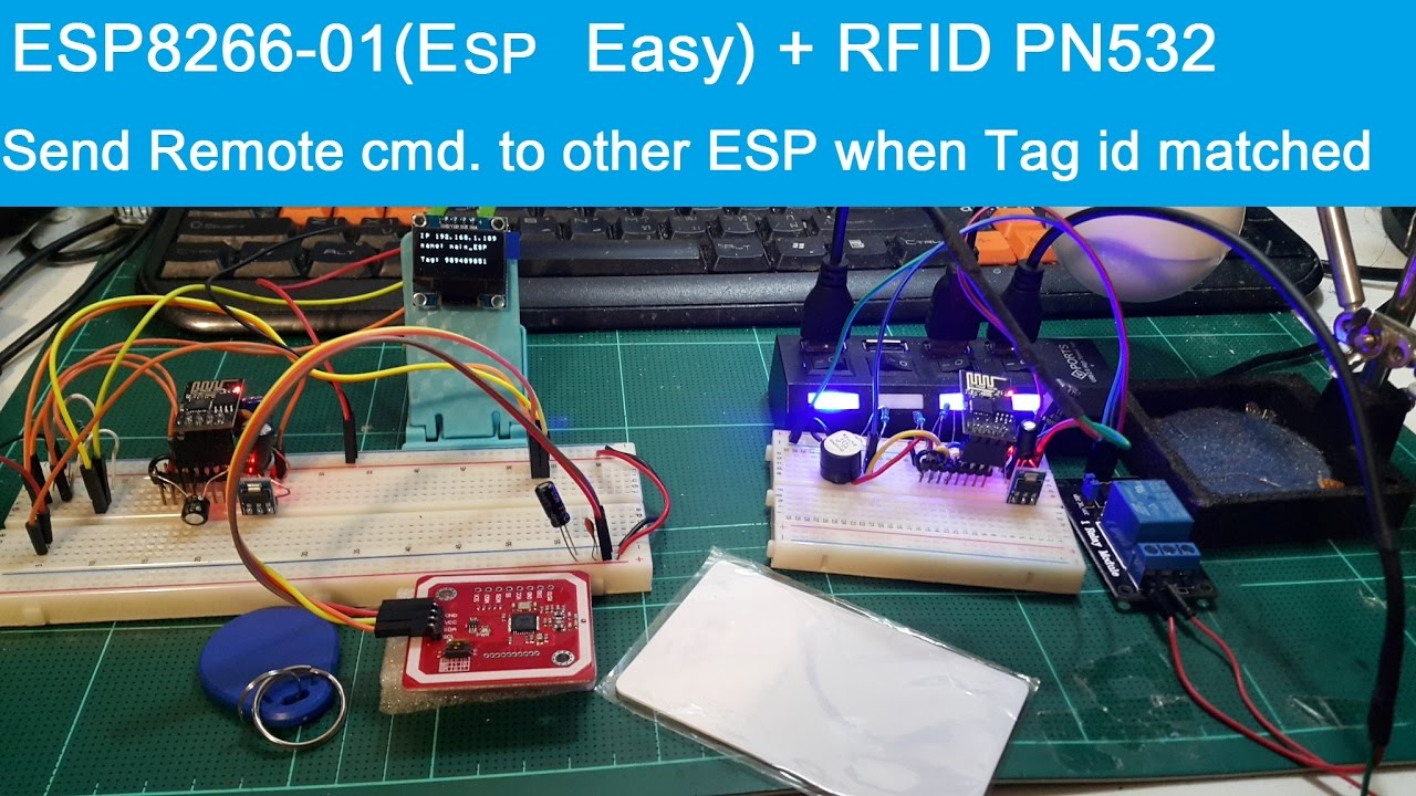 ESP8266(ESP Easy)+ RFID PN532, Send Remote command to other ESP when RFID  Tag id matched(Addt 2) by joeGTEC krab