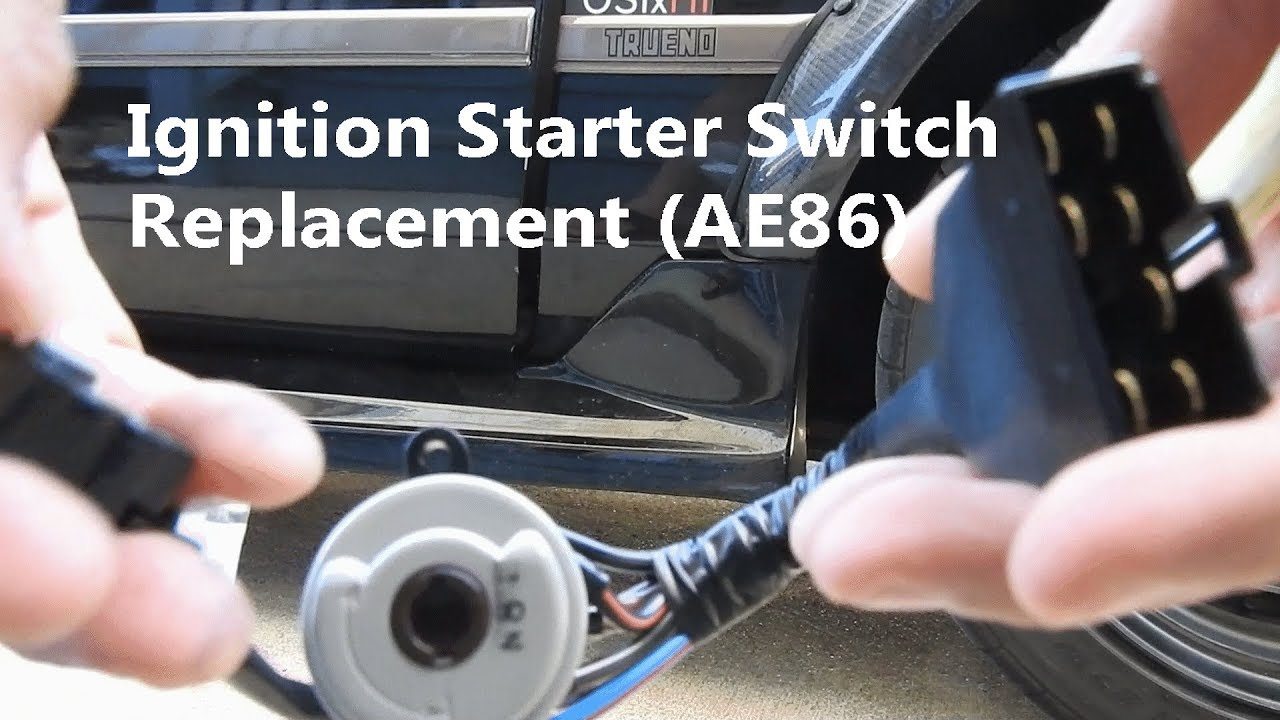 hight resolution of ae86 ignition wiring wiring diagrams mydiy replacing ae86 ignition starter switch youtube ae86 ignition wiring ae86