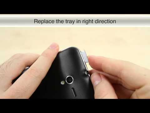 How to insert SIM card on the Asus Padfone 2