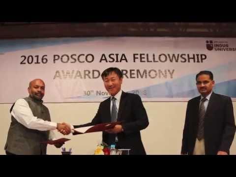 2016 POSCO ASIA FELLOWSHIP AWARD CEREMONY at Indus University in Gujarat, India