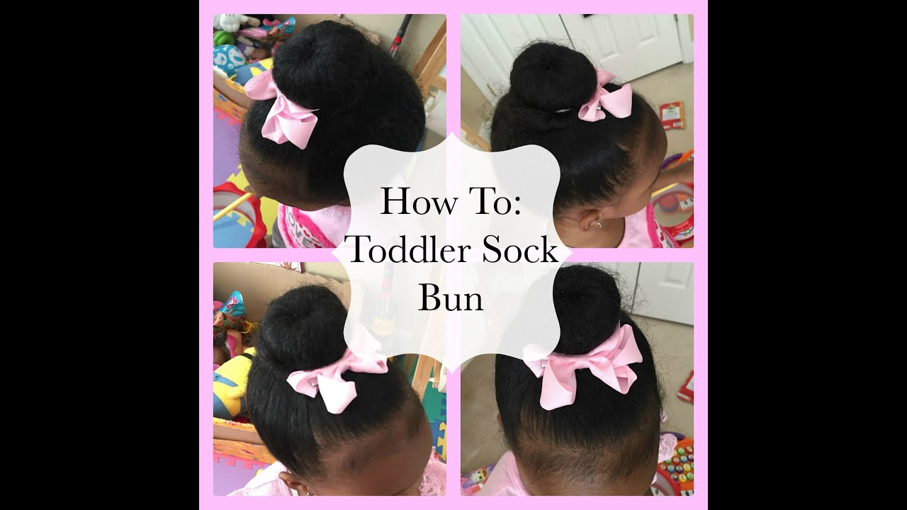 HOW TO: Toddler Sock Donut Hairstyle - YouTube